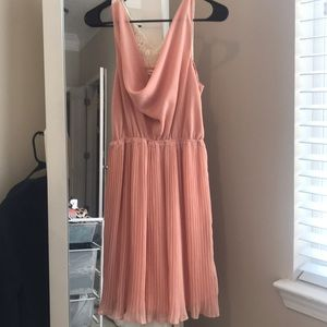 Blush accordion dress